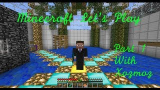 Minecraft Let's Play Part 1 With Xozmoz
