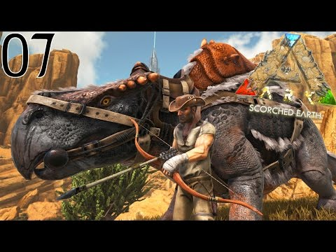 JE CHASSE DES DINOSAURES AVEC MON MORELLATOPS ! | ARK: Scorched Earth ! #Ep7