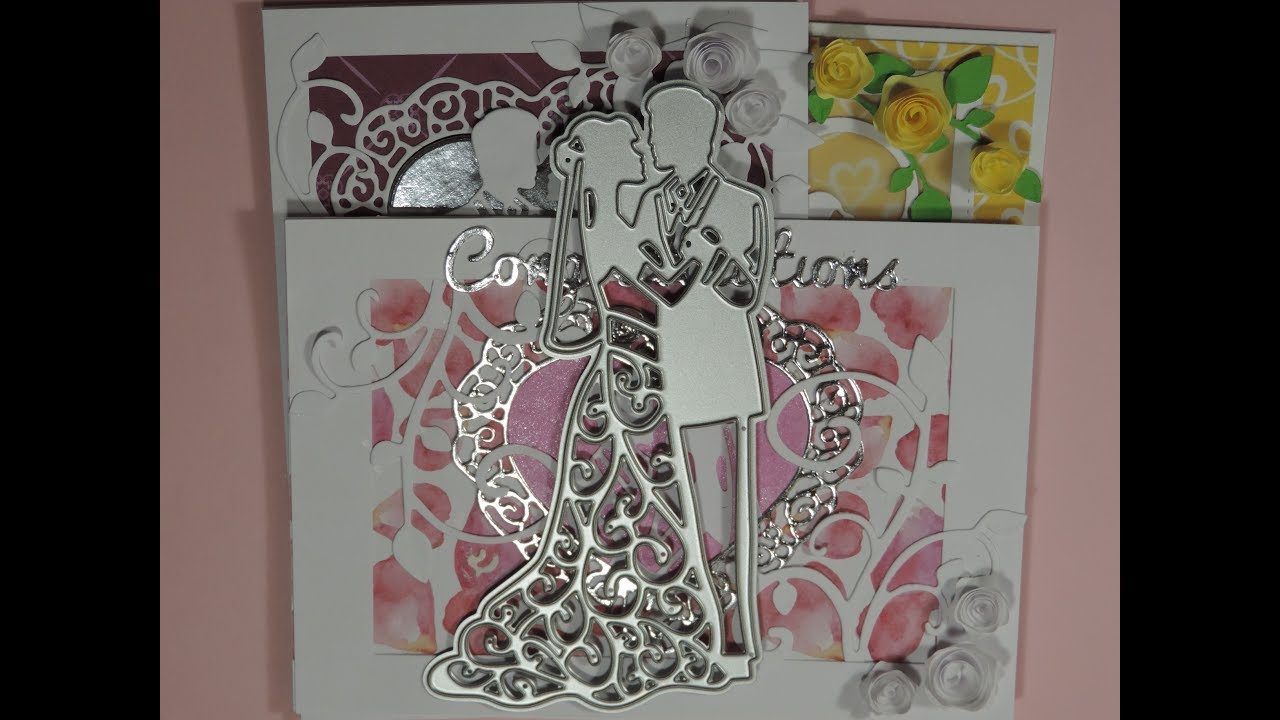 Card Making Ideas Using Dies Part - 35: Wedding Card Using Dies 3 Ideas For Card Making
