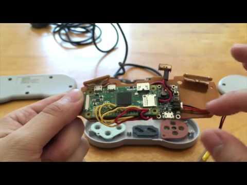 raspberry pi zero inside an snes controller the sns 005z