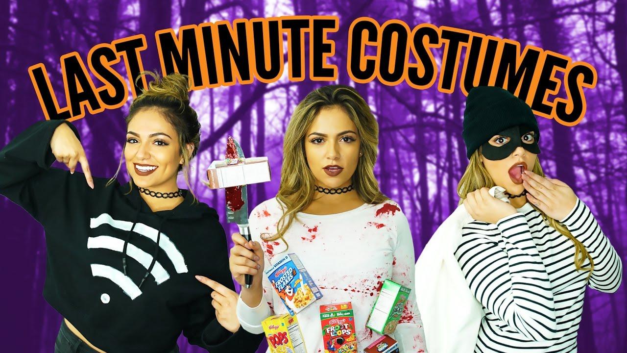 Diy Halloween Life Hacks Last Minute Costumes Bethany Mota Youtube