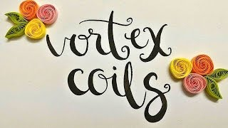 How to make vortex coils with a  slotted quilling tool - Part 1