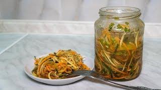 Закуска из овощей соломкой, овощной жульен, вкусная лапша из кабачков