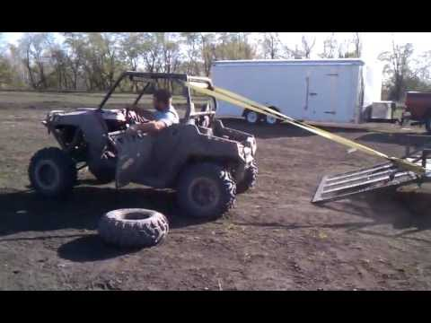 How to fix the roll cage on a Polaris RZR after a after a flip.