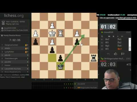 Chess Berserk! Yearly Lichess 2017 Classical (10 mins each) - Berserk rate: 100% : 8 hours duration