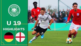 Corner flick goal wins it for Germany! | Germany vs. England 1-0 | Highlights | U19 Friendly