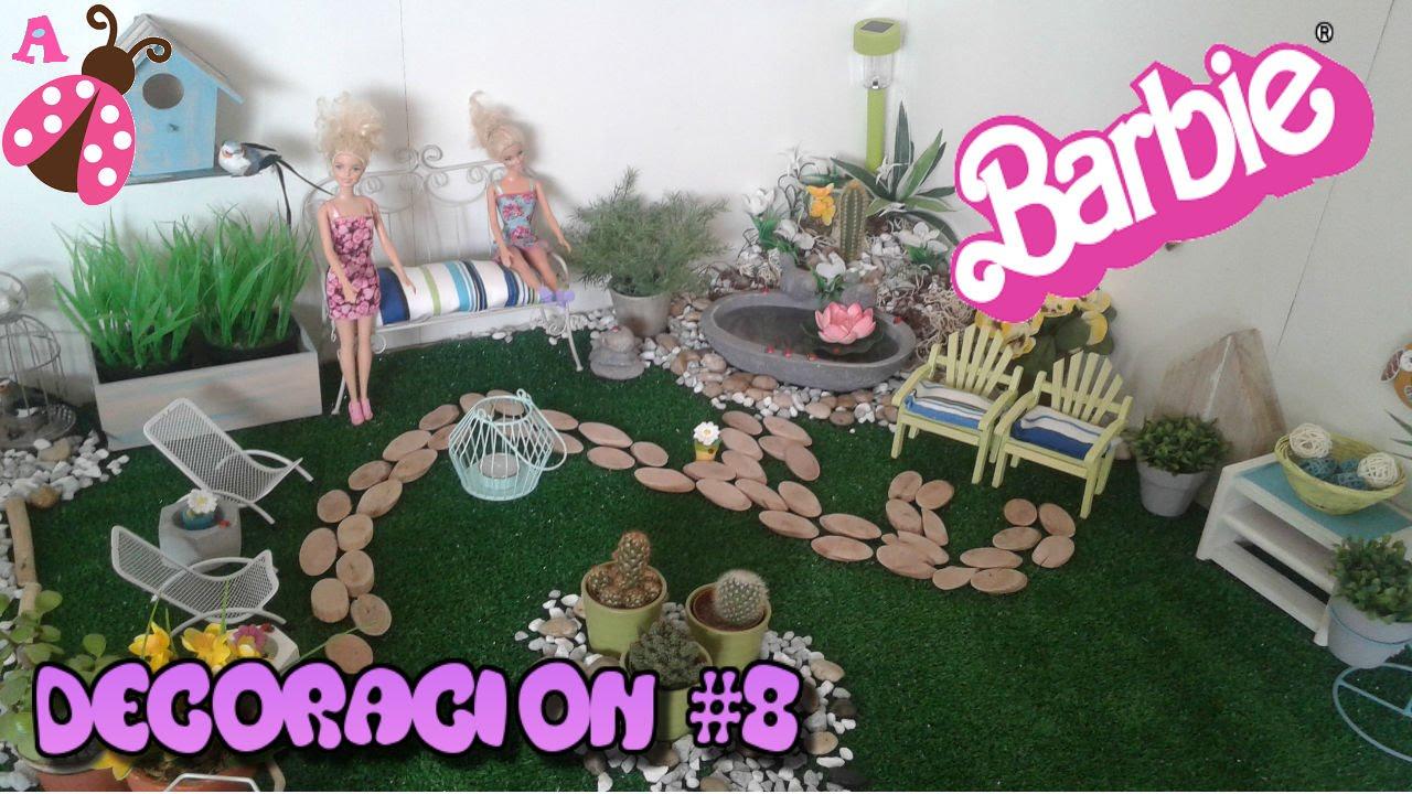 Deco 8 el jard n de barbies juguetes de barbie babie for Juguetes de jardin