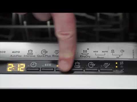 Как запустить посудомойку электролюкс
