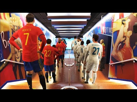PES 2018   SPAIN vs COSTA RICA   international friendly match   Gameplay PC