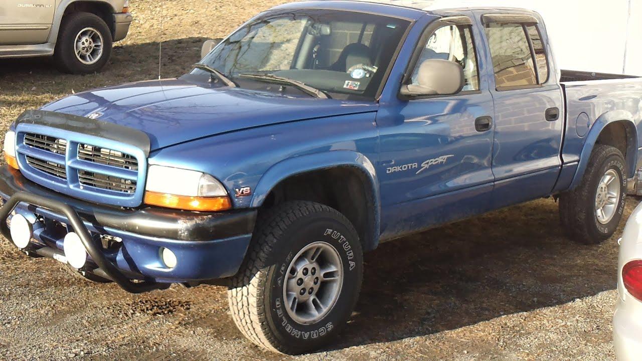 4x4 Dodge Magnum >> 2000 Dodge Dakota Quad Cab 5.9 Magnum Walkaround and Revs - YouTube