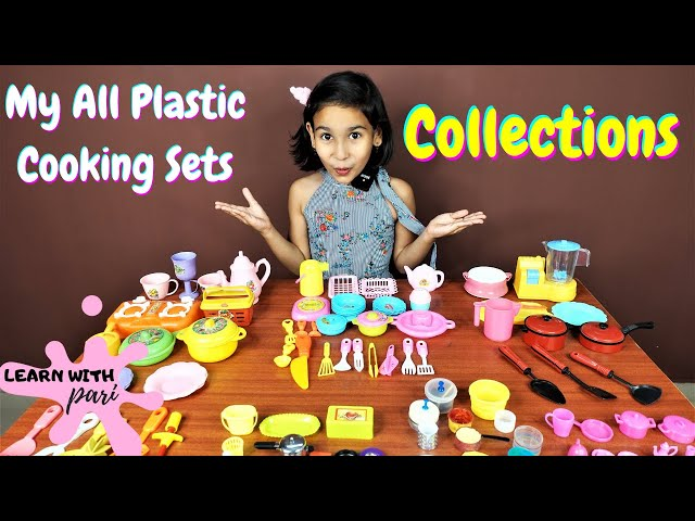 My All Plastic Kitchen Set collections / Miniature cooking set collections / #LearnWithPari
