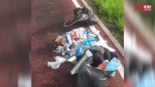 Житель Владикавказа по утрам собирает мусор на спортплощадке на Набережной