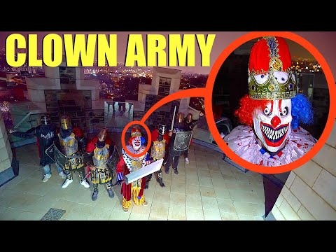 when you see the CLOWN KING and his army at the top of the Royal Clown Castle, RUN away FAST!!