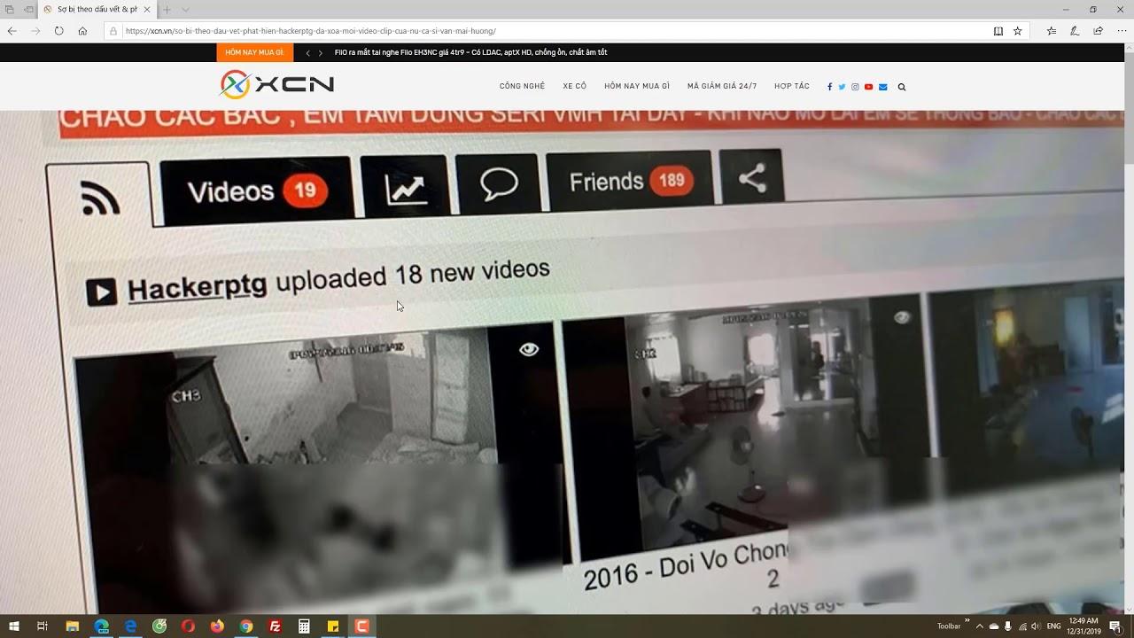 [Clips Văn Mai Hương 3] - Mình phải cám ơn HackerPTG vì đã đăng clip Van Mai Huong, còn bạn thì sao?