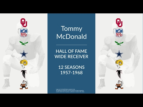 Tommy McDonald: Hall of Fame Football Wide Receiver