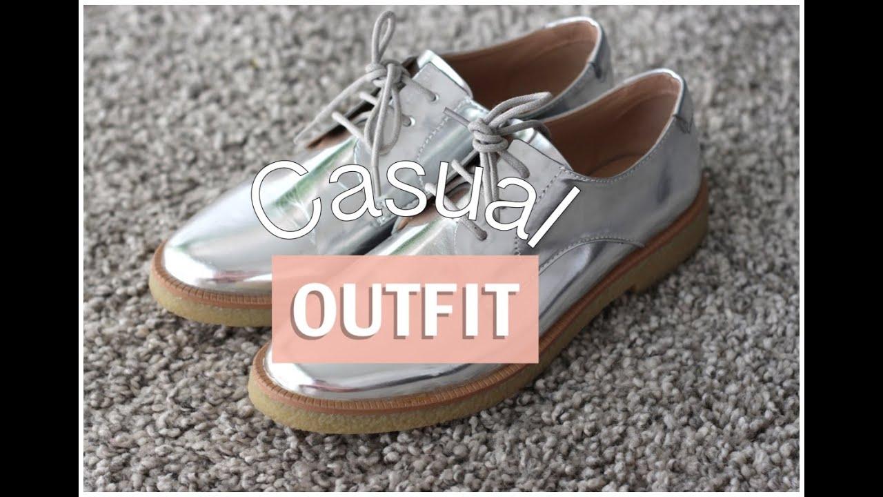Zapatos Casual Plateados Con Con Outfit Zapatos Casual Plateados Outfit Casual u5FK13cTlJ