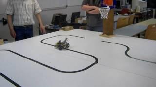 Robot suiveur de ligne - Dreux E. Branly robot 2 : tests en classe - PPE 2010