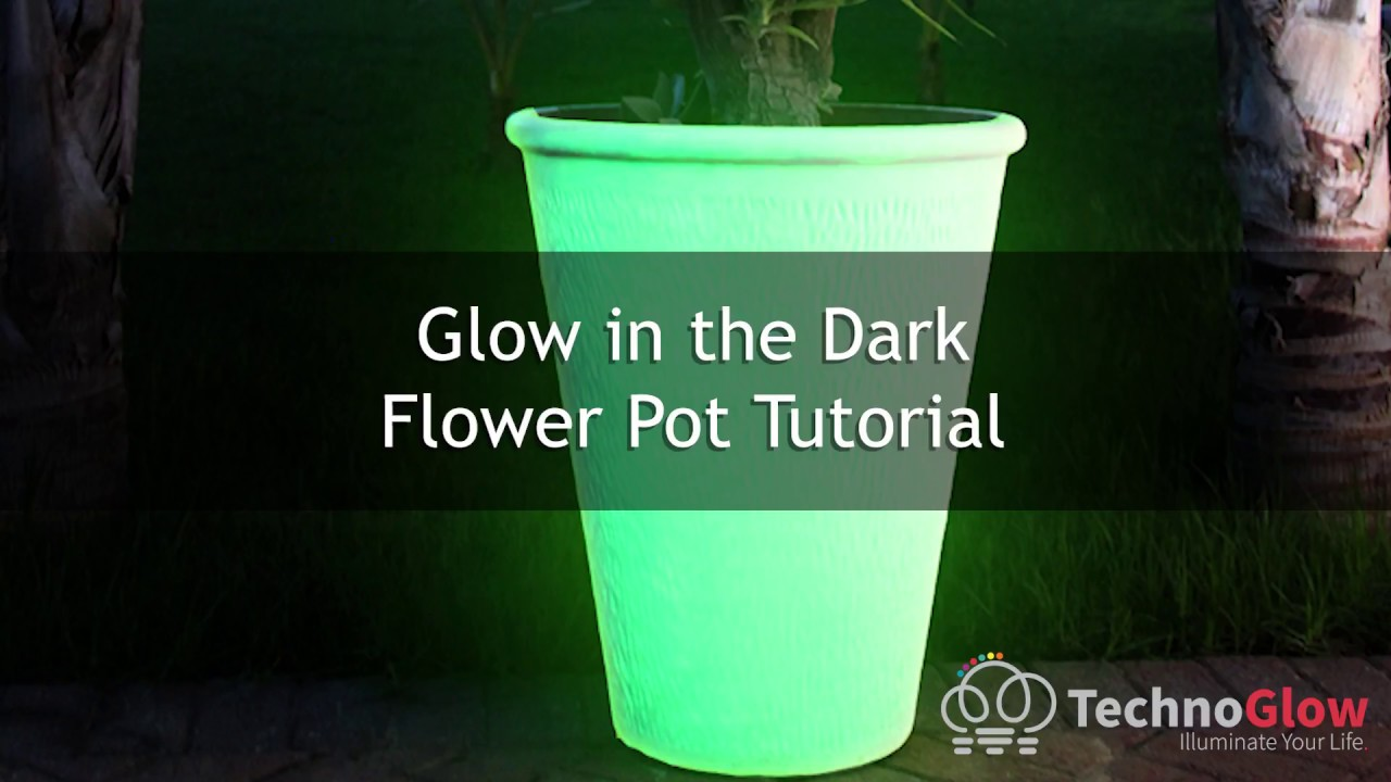 YouTube & How to make Glow in the Dark Flower Pots? We used Techno Glow Paint