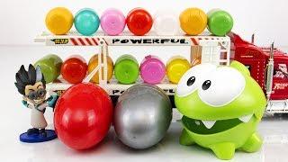 Мультик Ам Ням і Автовоз з шоколадними яйцями. Іграшки для дітей.
