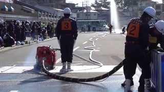 【後方カメラ】名古屋市緑区小型ポンプ操法大会 東丘消防団141122