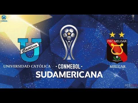 Universidad Católica Vs Melgar | Conmebol Sudamericana | Ida | Simulación Del Partido |Pes 6 Ecuador