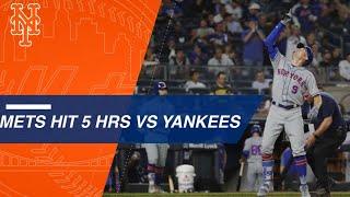 Mets homer 5 times at Yankee Stadium
