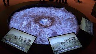 熱線や爆風、デジタル技術で模型に投影 長崎原爆資料館 被爆再現人形 検索動画 11