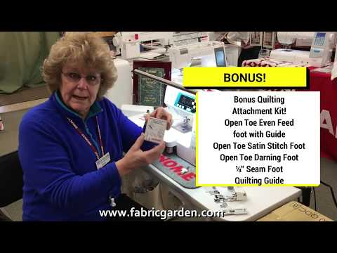 Janome 3160 QDC-B Demonstration At The Fabric Garden