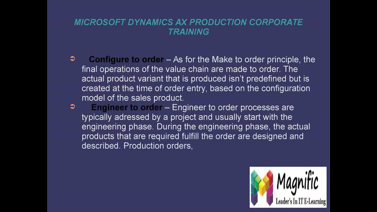 Microsoft Dynamics Ax Production Corporate Training In Certification