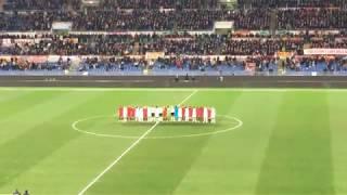 Roma-Torino 3-0 (09-03-2018) Davide Astori, minuto di silenzio allo Stadio Olimpico