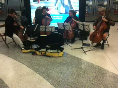 BART Music: Cello Quartet Plays Beautiful Version of Nothing Else Matters by Metallica