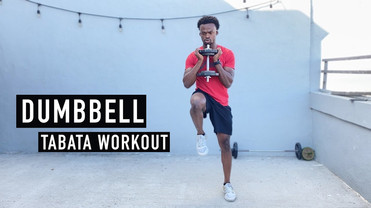 Dumbbell Tabata Workout | One Dumbbell Only