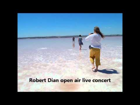 Robert Dian open air live guitar concert in Cegledbercel