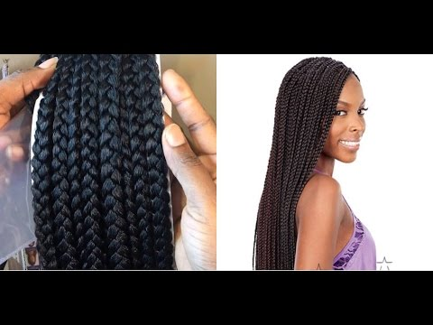 Freetress Crochet Box Braids Medium : 54. UNBOXING FREETRESS CROCHET BOX BRAID - YouTube