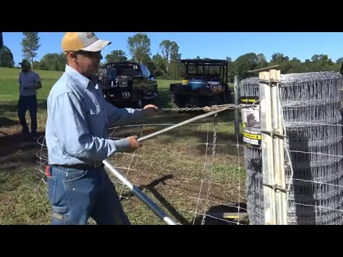 STRETCHING HIGH TENSILE WOVEN WIRE FARM FENCING INSTALLATION TIPS AND TRICKS!