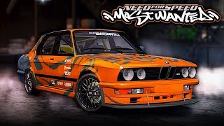 NFS Most Wanted | 1988 BMW M5 E28 Mod Gameplay [1440p60]