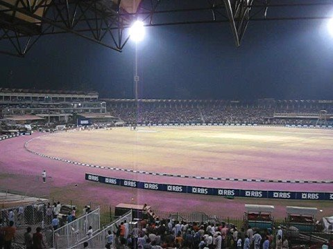 Final 20-20 Cricket Tournament Gaddafi Stadium at Night 8 Oct 2008 Lahore