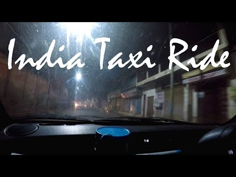Late Night Taxi Ride in Agra, India (with pushy driver)