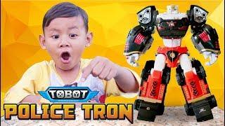TERBARU! Tobot Police Tron / Deltatron Warna Hitam Gabungan Dari Tobot X Z D, Tobot Bahasa Indonesia