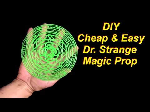 DIY Dr  Strange Costume Easy Magic Circle Prop
