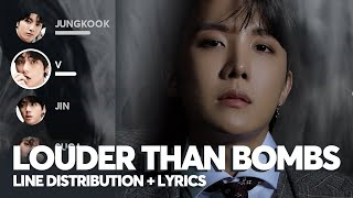 BTS - Louder than bombs (Line Distribution + Color Coded Lyrics)