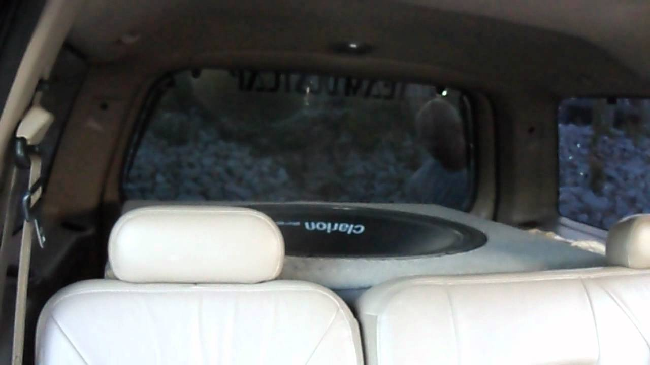 "32"" subwoofer in ford expedition - YouTube"