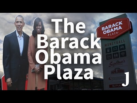 Barack Obama Plaza: Business is booming - but US tourists don't quite know what to make of it