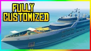 GTA 5 Online - Super Yacht FULL CUSTOMIZED! (GTA 5 $10,000,000 Yacht)