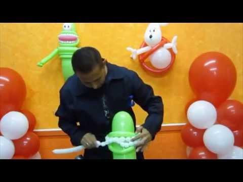 Como hacer a pegajoso cazafantasmas- Decoraciones con globos