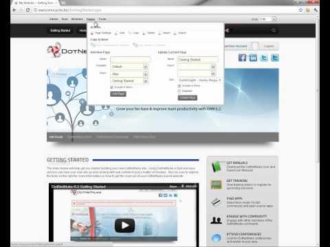 Deleting a page in DotNetNuke 6 2 > View Video