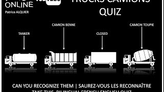 Camions Trucks | Types of Lorries | Types de Camions