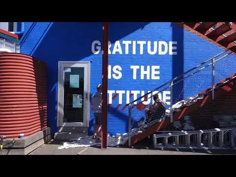 Gratitude is the Attitude. Glen Huntly Primary School mural