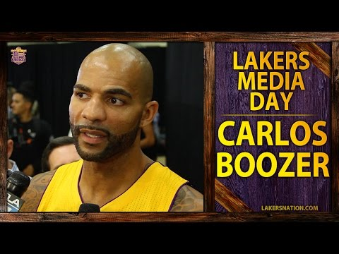 Lakers Media Day 2014: Carlos Boozer Talks Relationship With Kobe Bryant