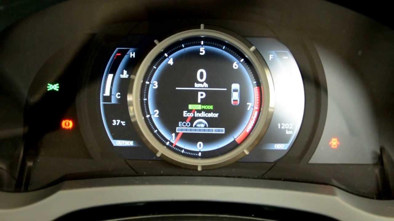 Is 350 F Sport >> 2013 Lexus IS 250 F-Sport instrument cluster - YouTube